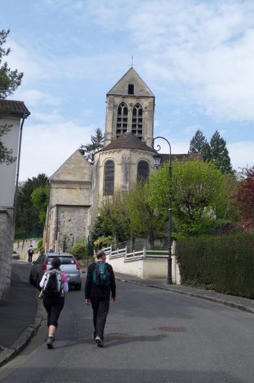 Annick, Bruno, église de Jouy-le-Comte