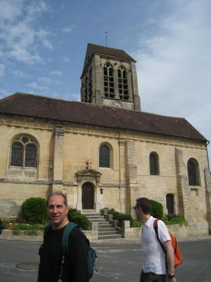 Bruno et Aurélien, église de Jouy le Comte