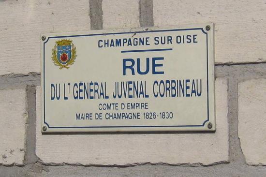 Plaque de rue à Champagne-sur-Oise