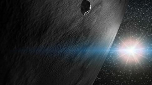 L'astéroïde 24 Themis (vue d'artiste)