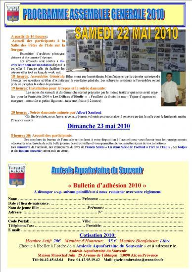 Bulletin PAQUES 2010