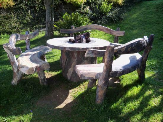 salon de jardin chauffant. Black Bedroom Furniture Sets. Home Design Ideas