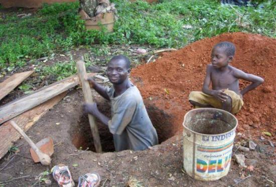 construction d'une latrine familliale