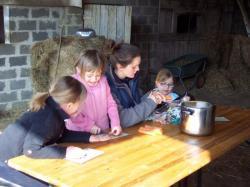 préparation de la soupe pour midi