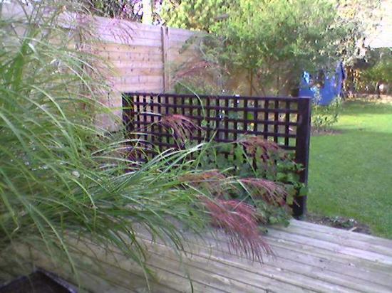 treillis en bordure de terrasse