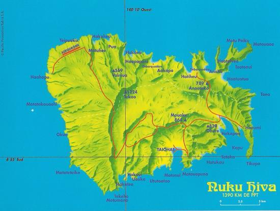 carte de nuku hiva - Photo