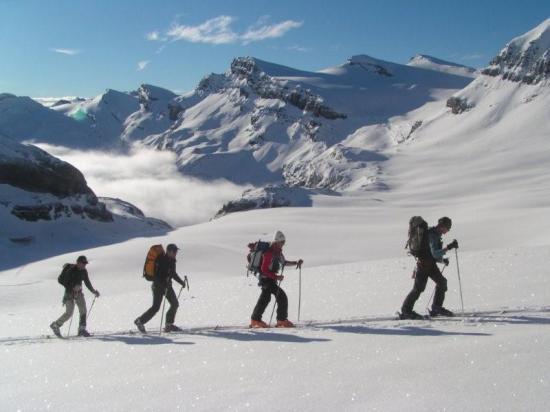 Montée tranquille dans le massif du Wildstrbel (suisse)