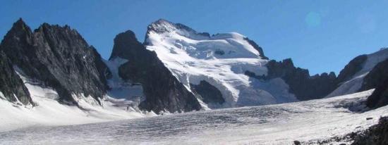 La Barre des Ecrins et le Glacier Blanc