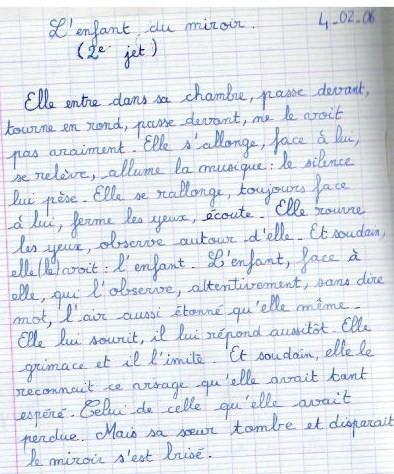 l'enfant au miroir, 4/02/2006