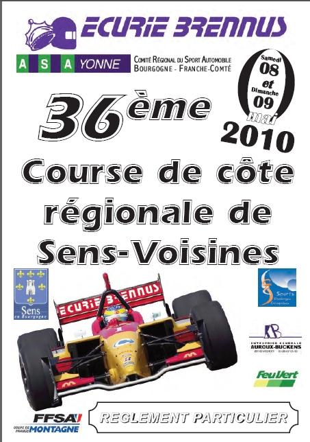 Course de cote de Sens Voisines 2010