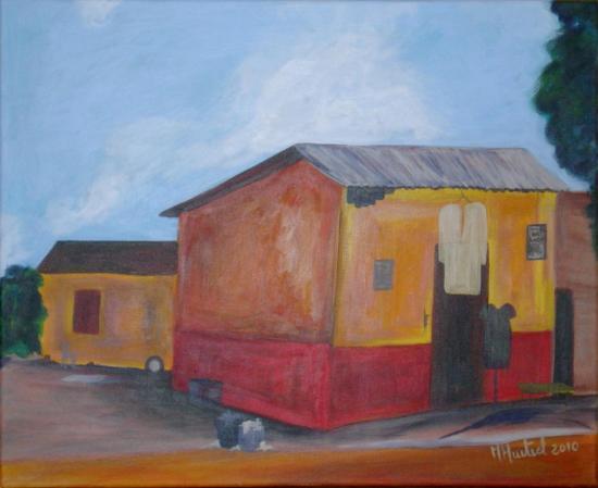 Acrylique - La maison du couturier, Cameroun