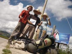 Yo, George y Anastasia despues del primer viaje - cerca de Cuenca