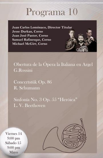 Concert OSY 14 et 15 mai à 21h00