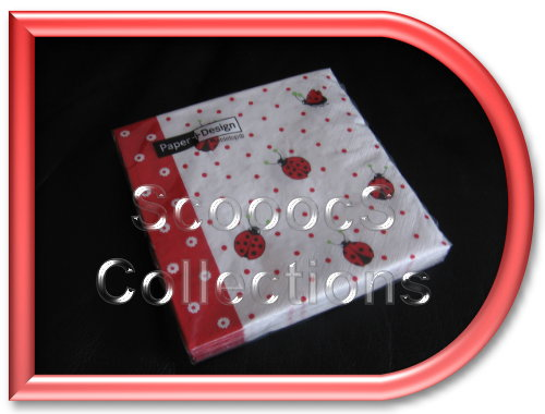 serviette de table coccinelle