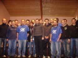 Mise à l'honneur de l'équipe senior demie finaliste de la Coupe de la Loire, présence du joueur professionnel du PG Sylvain Armand
