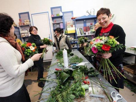 Création d'un bouquet rond
