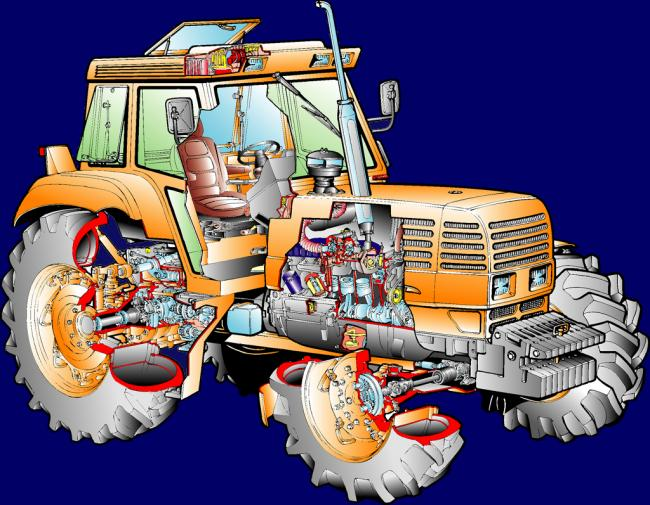 vue éclatée tracteur