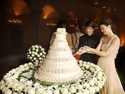 katie holmes wedding photos. Wedding Cake