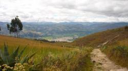 Vista sobre Cajamarca desde la montaña