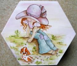 Boîte hexagonale - Sarah Kay