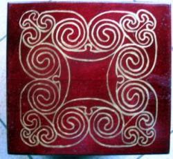 boîte à thé - motifs celtiques
