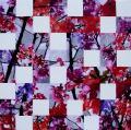 Hanami # 54 - 2010 - Acrylique sur papier marouflé sur toile  80 x 80 cm