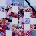 Hanami # 55 - 2010 - Acrylique sur papier marouflé sur toile 60 x 60 cm