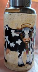 vaches en tenue d'hiver- détail