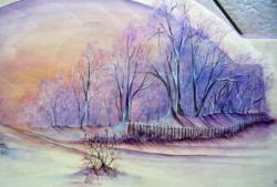 paysage d'hiver... - détail
