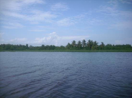 La lagune en pirogue