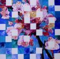Hanami # 38 - 2009 - Acrylique sur papier marouflé sur toile 100 x 100 cm