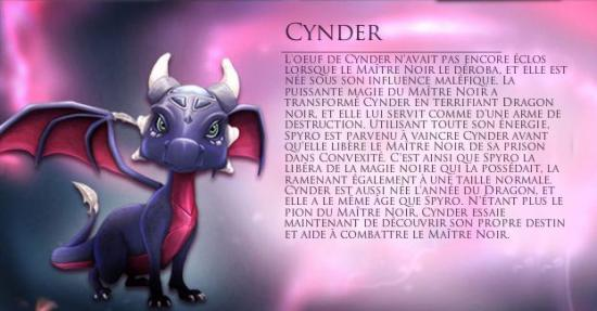 Les personnages important(e)s Cynder