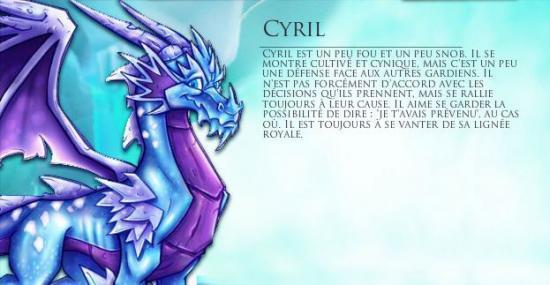 Les personnages important(e)s Cyril