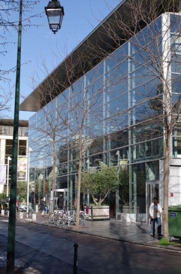 La Médiathèque côté rue. Cliché CSTC.