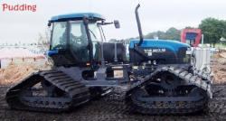 TV-140 New Holland tractor with tracks of Ballintubber
