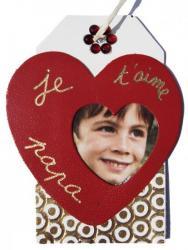 strass sur l'étiquette tag en cuir et dorure à chaud pour le coeur en cuir couleur