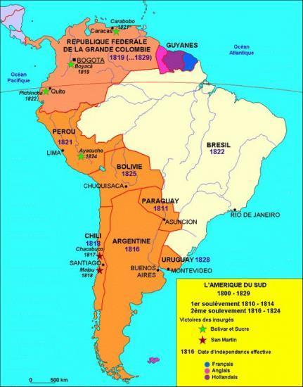 Amérique du Sud_ Guerres d'indépendance
