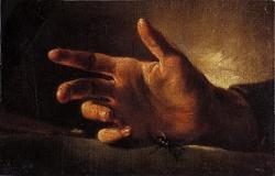 Géricault, étude de main