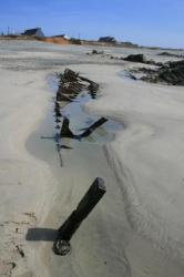 Vue arriére de l'épave du Cormoran en Baie d'Audierne